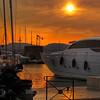 Sunset at St Tropez port