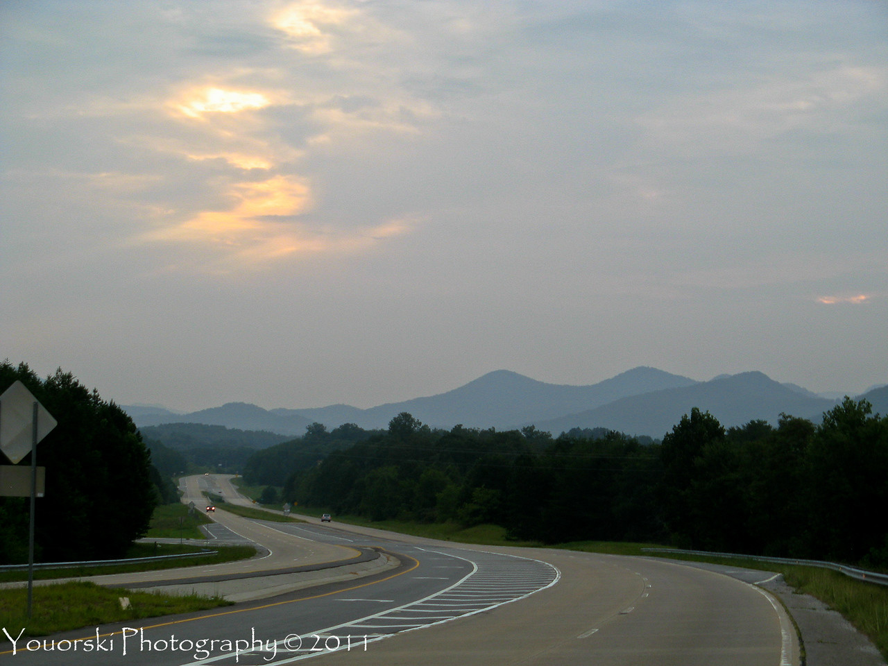 Up in North Georgia. I pulled over on the side of the road and shot this from my SV650 while at the Twisty Sister Rally. 2011.