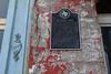 Historical plaque on Giesel House, Navasota, Texas 7-1-2011