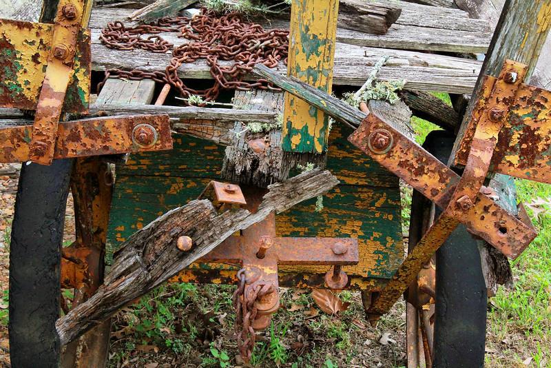 A tired old depot cart, Burton, Texas 4-2-2011
