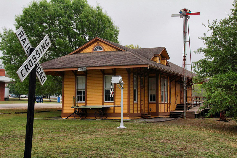 Burton, Texas railroad depot, April 2, 2011