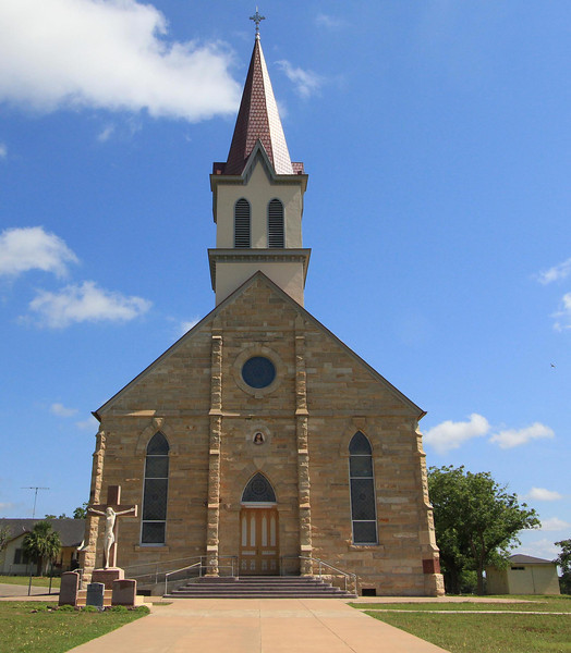 Church in Praha, Texas, June 2012, looking north.