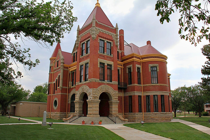 Restored Donley County Courthouse in Clarendon, Texas.