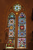 Texas town of High Hill, church stained glass artwork.