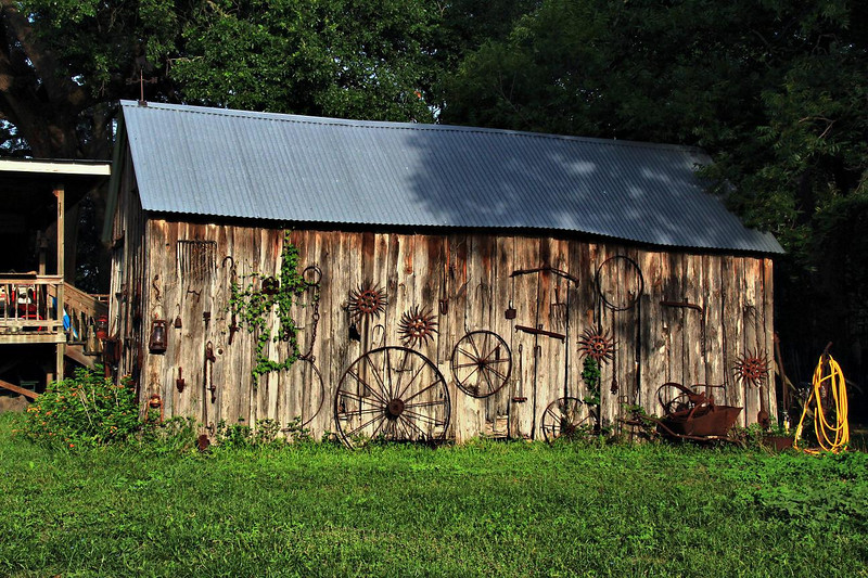 Shed in Anderson, Texas, 7-1-2011