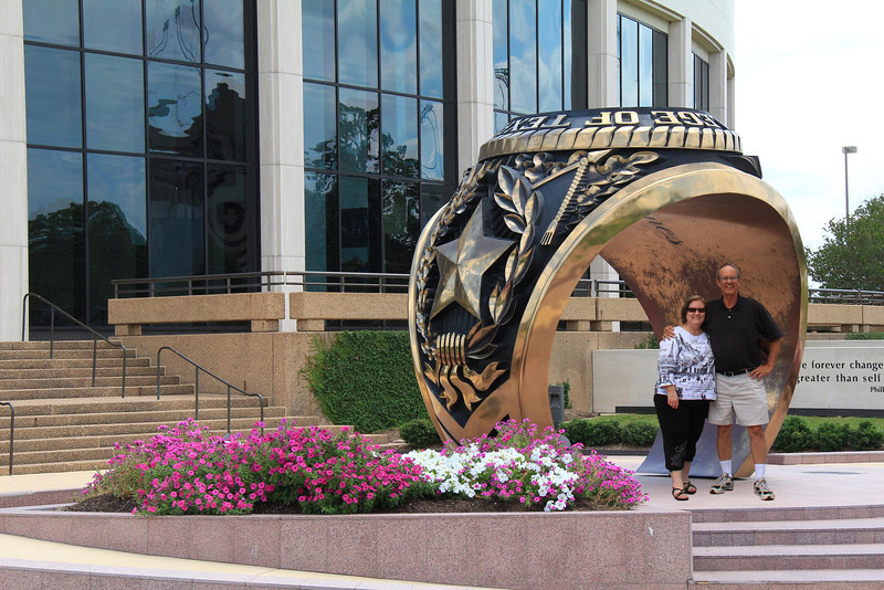 Myself and my wife Jan at the Texas A&M Alumni Center in Ciollege Station, Tx, May 27, 2012.