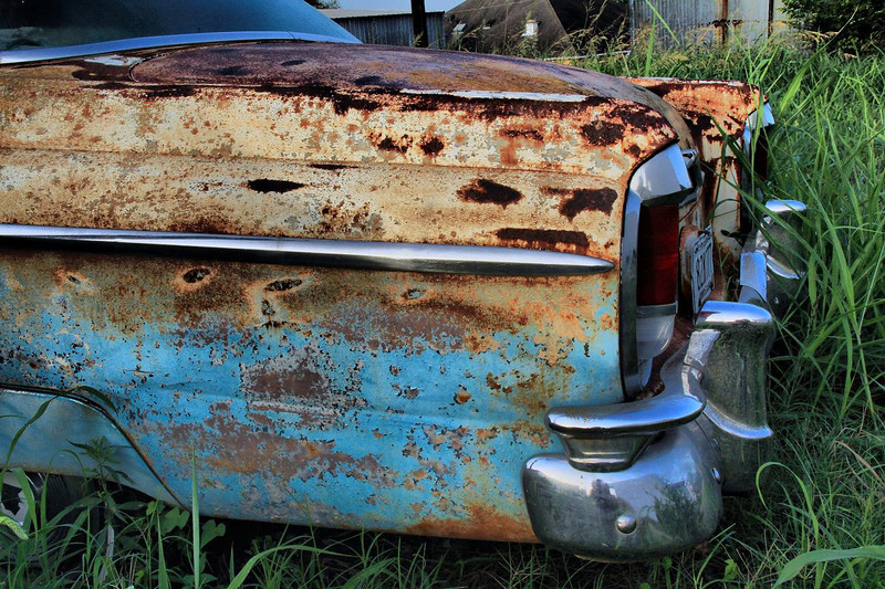 An abandoned 1956 Mercury Montclair in Anderson, Tx, 7-1-2011