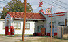 A time freeze grips this old Magnolia gas station in Gonzales, Texas.