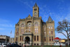 Lavaca County Courthouse in Hallettsville, Texas, decorated for Christmas.