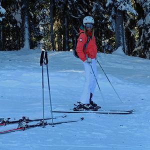 Courchevel 1850 Skiing Feb 2015