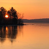 Winter Sunrise on Coventry Lake