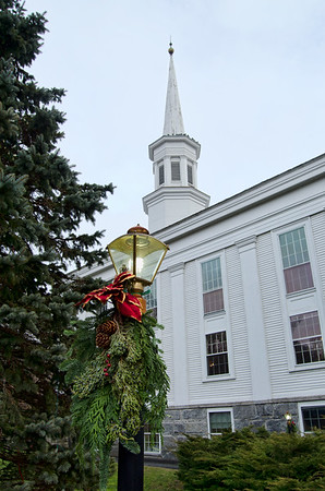 First Congregational Church of Coventry during the Christmas holiday.