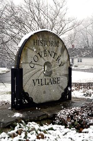Historic Village marker, Lake Street.