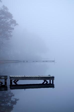 Coventry Lake in Fog