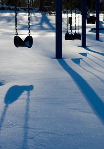 Patriots Park in winter.