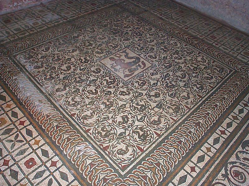 Intricate Roman mosaic