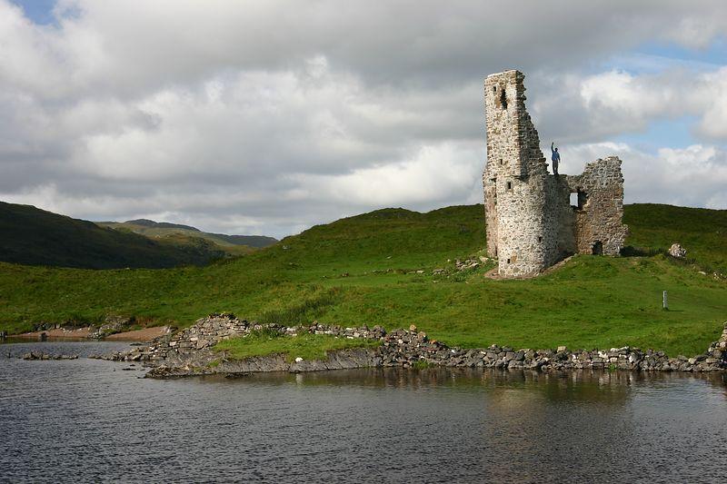 Castle guarding loch