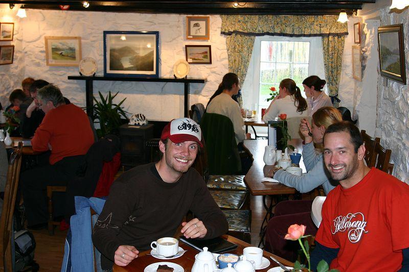 Jakob and KT afternoon tea