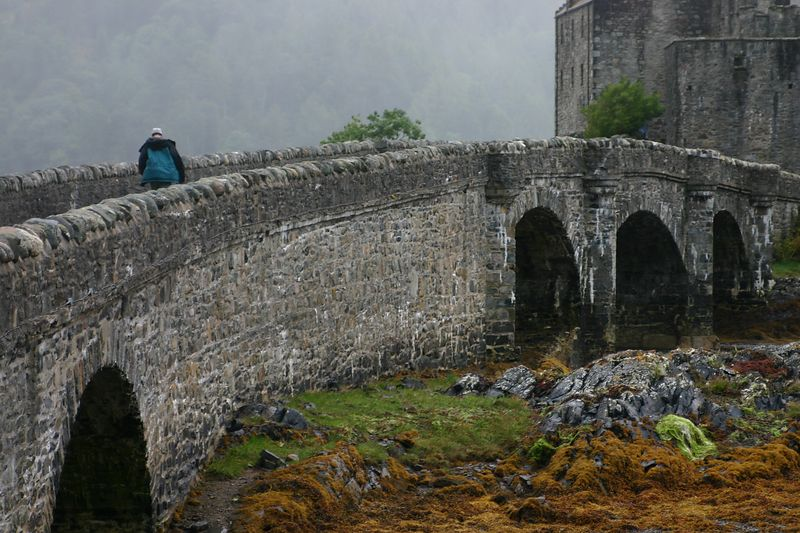 Over the bridge and into the castle