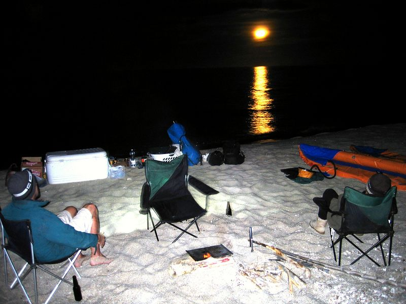 Dinner by moonlight
