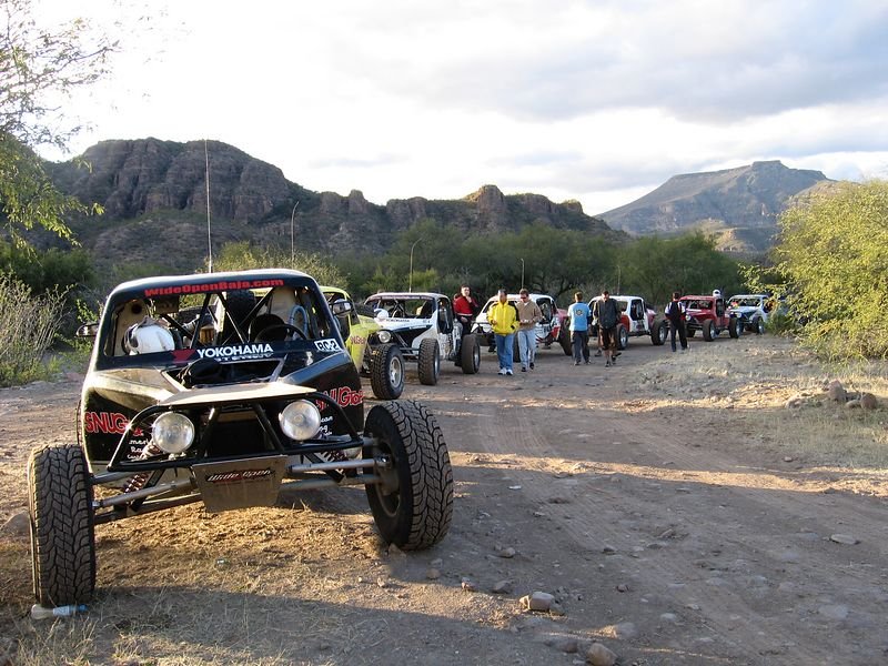 Baja traffic jam