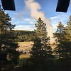 Old Faithful out the Bedroom Window