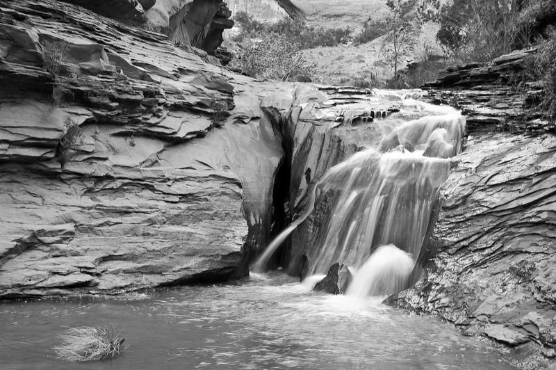 First Waterfall (B&W)-0007-2