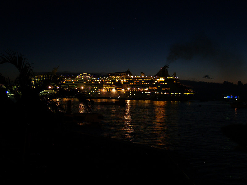 CRUISE SHIP AT INTERNATIONAL PIER
