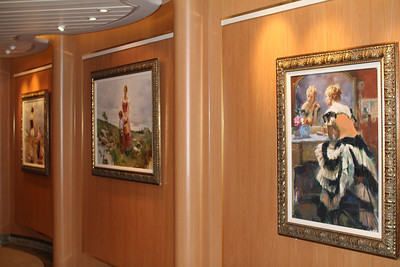 there was even an art gallery on board