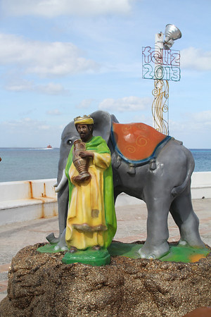 this wise man rode an elephant to the Nativity?