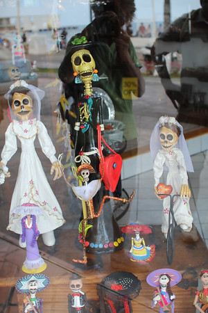 a shop window in Cozumel