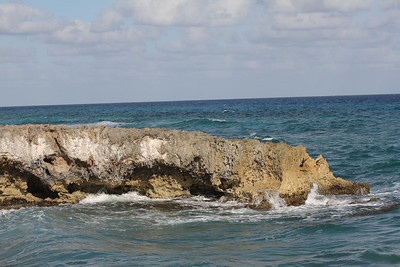 Cozumel is a flat island based on limestone