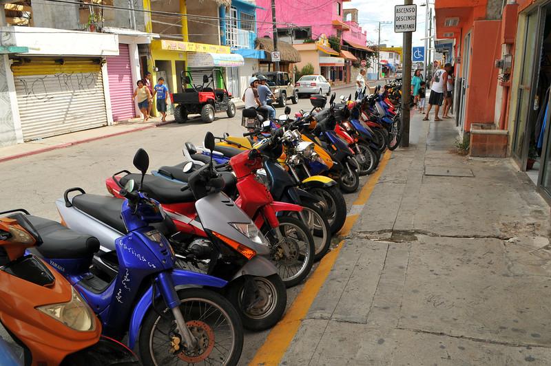 Primary mode of transportation on Cozumel, November 2012