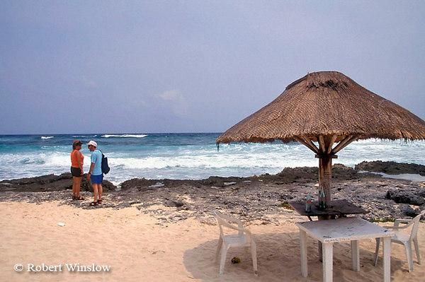 Model Released, Couple at Beach on Eastern Shore, Cozumel Island, State of Quintana Roo, Yucatan Peninsula, Mexico