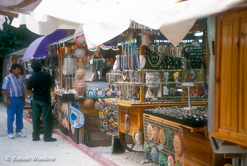 Street Scene, tourist vendors, San Miguel, Cozumel Island, State of Quintana Roo, Yucatan Peninsula, Mexico