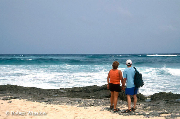 Model Released, Couple, Eastern Shore, Cozumel Island, State of Quintana Roo, Yucatan Peninsula, Mexico