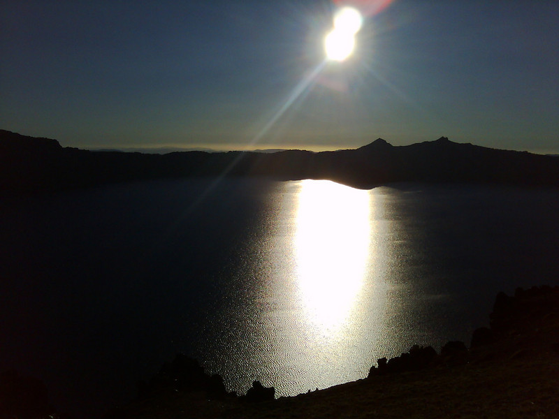 Crater Lake early sunset by Garmin Nuvi 295W