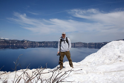 Mike at Crater Lake