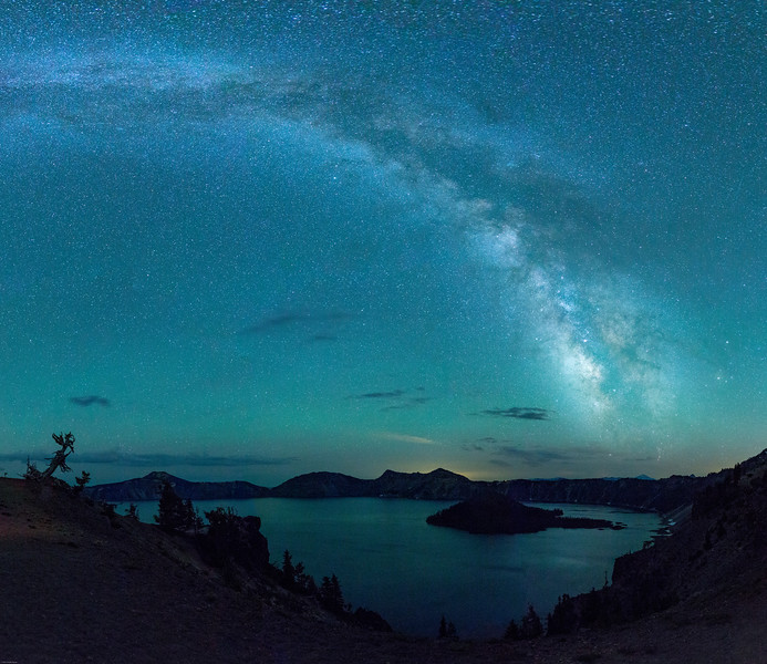 Milky Way Over Wizard Island