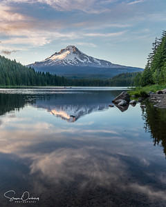 Mt Hood at Sunset at Trillium Lake