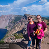 Family photo on top of Garfield Peak - Crater Lake National Park, Oregon. Monday, August 18, 2014 at 4:50 PM.