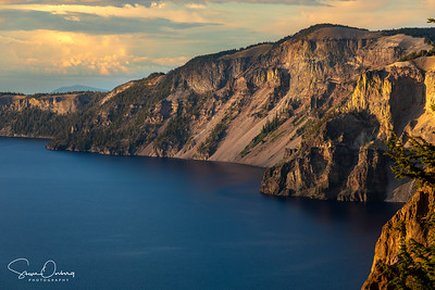 Crater Lake from Sun Notch at Sunset