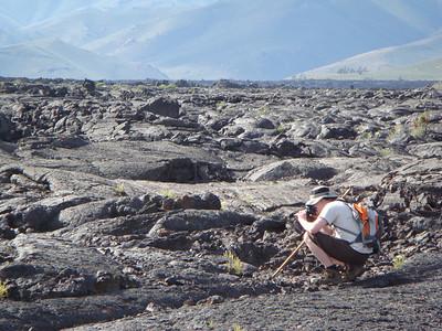 Michal immortalizing the lava