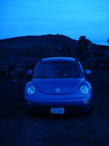 Blue Beetle at night