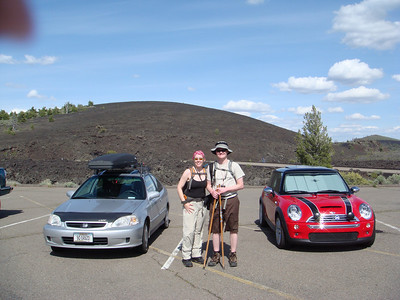 Before our first hike to the lava molds