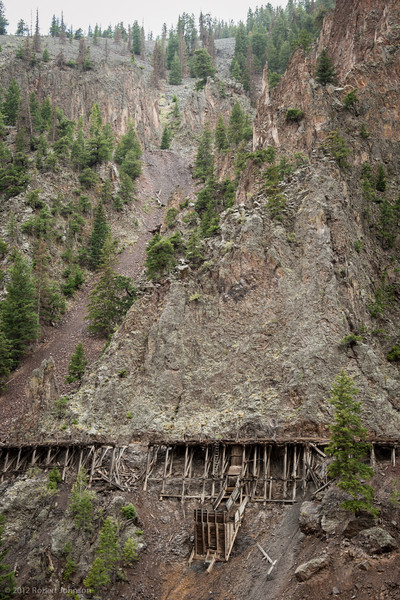 Old mining railroad near Creede, Coloraod