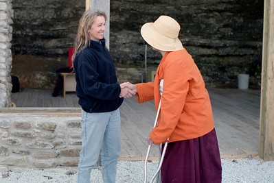 Debbie and Tibetan Monk. Near Parthenon, Arkansas, February, 2009.