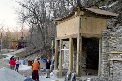Buddhist temple under construction near Parthenon, Arkansas, February, 2009.