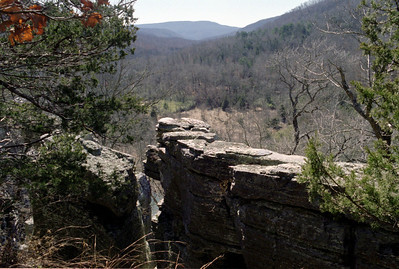 Bluffs, hiking trail from Ponca to Steel Creek, Buffalo National River. Arkansas, February 2009.