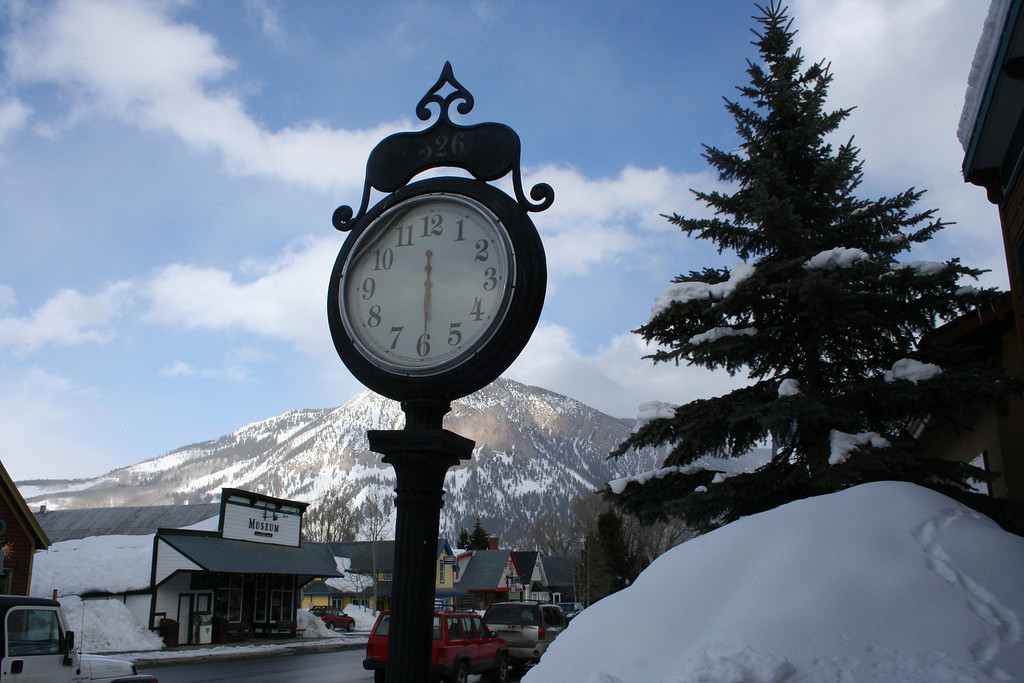 A look back in time-<br /> downtown Crested Butte, CO